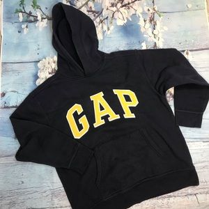 GAP navy blue with yellow Gap logo hoodie Sz XL
